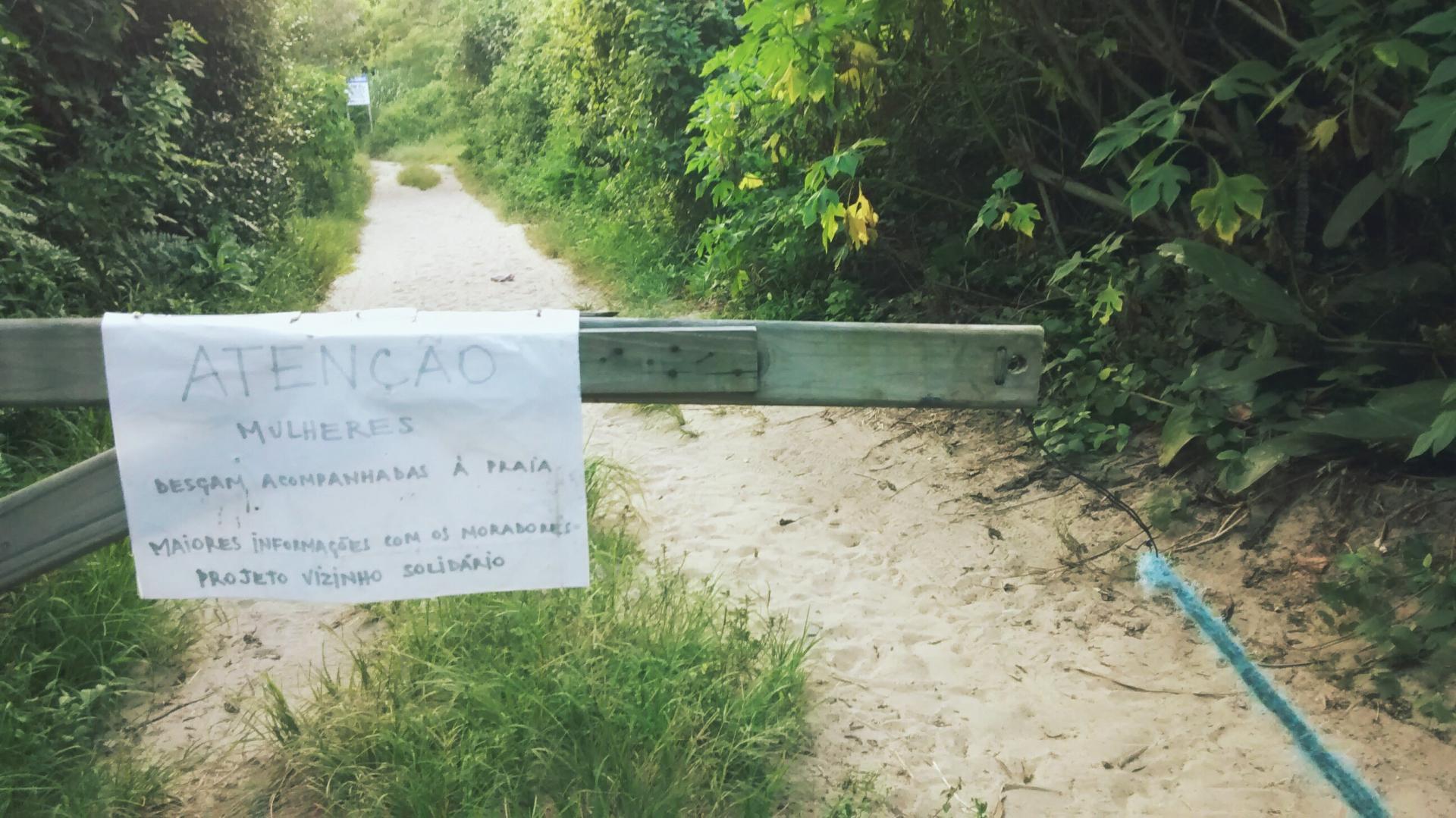 Novo caso de estupro nas dunas do Rio Tavares