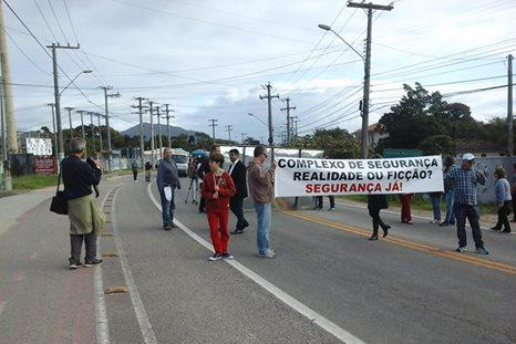 Manifestação em prol do Complexo de Segurança