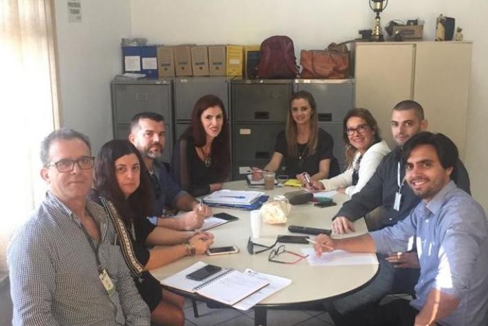 Reunião Lucas Arruda com técnicos da Comcap