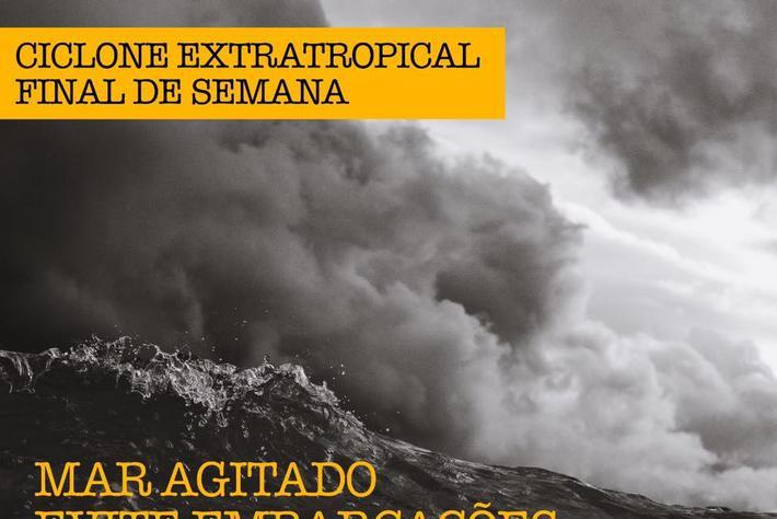 Defesa Civil emite alerta para ciclone extratropical no final de semana
