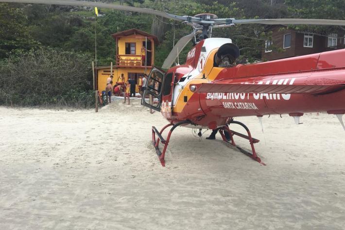 Equipe do Arcanjo realizaram o atendimento de apoio a vítima de afogamento na praia do Matadeiro