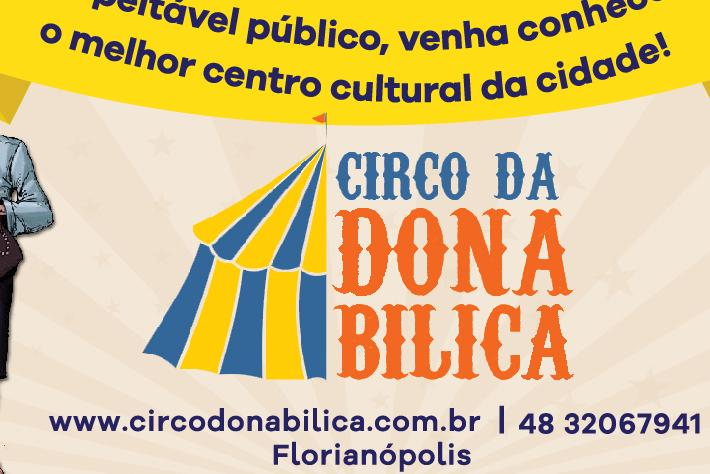 Programação de aniversário do Circo da Dona Bilica