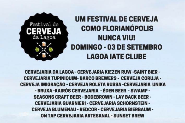 Evento inédito reunirá 22 cervejarias na Lagoa da Conceição