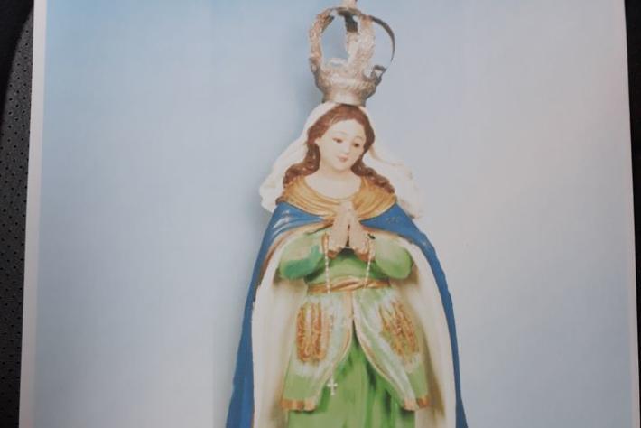 Imagem da Nossa Senhora da Lapa é furtada na Igreja Matriz do Ribeirão